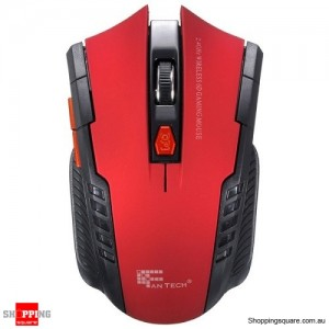 Wireless 2.4Ghz Scroll 6D Gaming Mouse Red Colour
