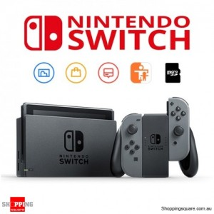 Nintendo Switch with Gray Joy-Con Game Console