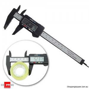 6 inch 150mm Electronic Digital Caliper Ruler Vernier Composite Carbon Fiber