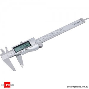 150mm 6 inch LCD Stainless Steel Digital Electronic Vernier Caliper Guage Ruler