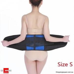 Deluxe Neoprene Lumbar & Lower Back Waist Support Brace for Posture Size S