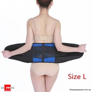 Deluxe Neoprene Lumbar & Lower Back Waist Support Brace for Posture Size L