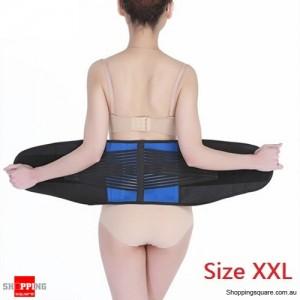 Deluxe Neoprene Lumbar & Lower Back Waist Support Brace for Posture Size XXL