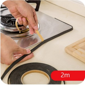 Gas Stove Cooker Slit Antifouling Strip Sealing Tape Strip for Kitchen