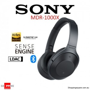 Sony MDR-1000X Noise Canceling Bluetooth Hi-Fi Headphones Black
