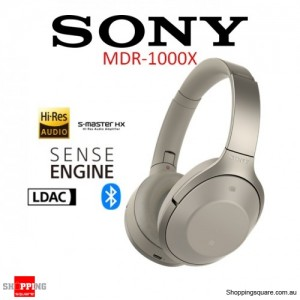 Sony MDR-1000X Noise Canceling Bluetooth Hi-Fi Headphones Beige
