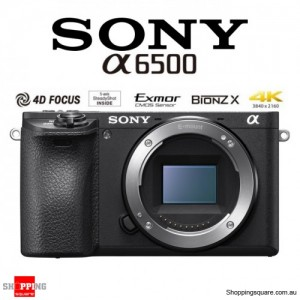 Sony ILCE-6500 Premium E-Mount APS-C 4K DSLR Digital Camera Body Black