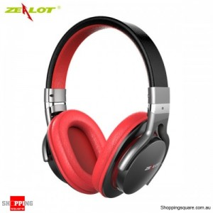 ZEALOT B5 Bluetooth 4.0 Wireless Universal Stereo Headphone Headset Supported TF Card Red and Black Colour