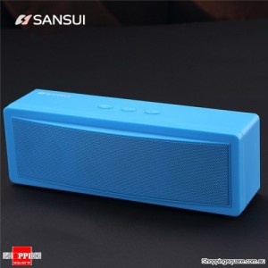 Bluetooth Wireless Portable Speaker with 1200mAh Battery Subwoofer Dual Unit Supported TF Card U Disk Blue Colour