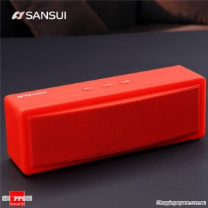 Bluetooth Wireless Portable Speaker with 1200mAh Battery Subwoofer Dual Unit Supported TF Card U Disk Red Colour