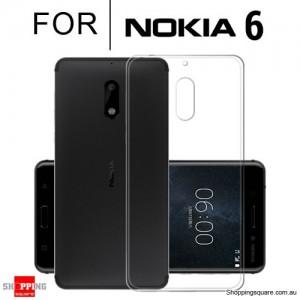 Slim TPU Soft Gel Transparent Case Cover for Nokia 6