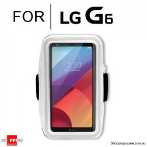 Sports Running Armband Case for LG G6 White Colour