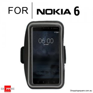 Sports Running Armband Case for Nokia 6 Black Colour