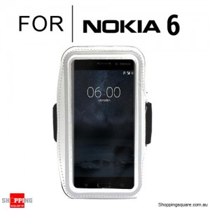 Sports Running Armband Case for Nokia 6 White Colour