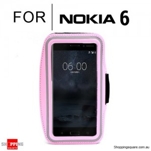Sports Running Armband Case for Nokia 6 Pink Colour