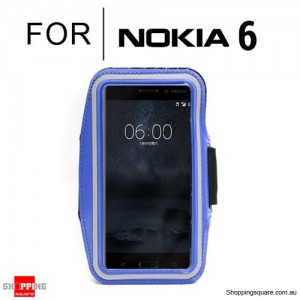 Sports Running Armband Case for Nokia 6 Blue Colour