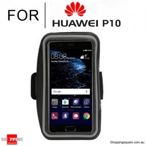 Sports Running Armband Case for Huawei P10 Black Colour