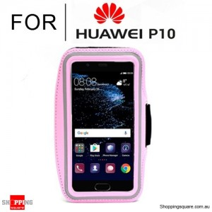 Sports Running Armband Case for Huawei P10 Pink Colour