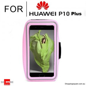 Sports Running Armband Case for Huawei P10 Plus Pink Colour