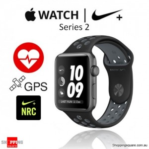 Apple Watch Nike 42mm Black/Cool Gray Sport Band Fitness Sport Running Smart Watch