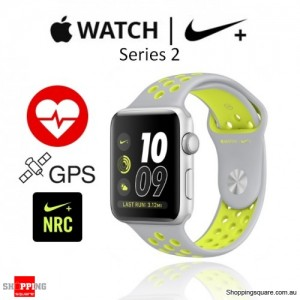 Apple Watch Nike+ 42mm Silver/Volt Sport Band Fitness Sport Running Smart Watch