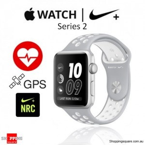Apple Watch Nike 42mm Silver/White Sport Band Fitness Sport Running Smart Watch