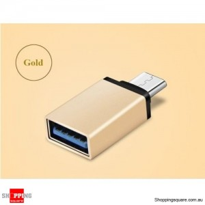 USB 3.1 Type C USB-C Male to USB 3.0 A Female Converter Cable Adapter Gold Colour