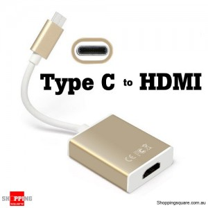 USB Type C USB-C 3.1 Male to HDMI Female Adapter Converter Cable for HDTV 1080p