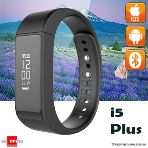 i5 Plus Bluetooth 4.0 Sport Smart Bracelet Watch Wristband  for Android iPhone Black Colour
