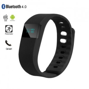 TW64 Smart Bluetooth 4.0 Wristband Fitness Activity Tracker Black Colour