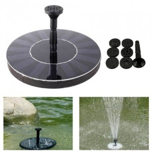 Outdoor Solar Powered Pond Pump Water Fountain Kit