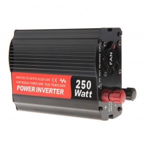 250-Watt Portable Mini Car Power Inverter DC 12V AC 220V-240V