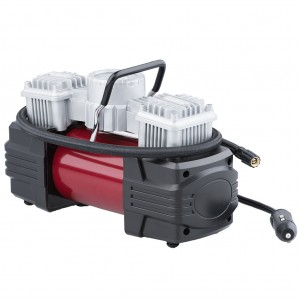 Dual Cylinder Portable Air Compressor with Flashlight