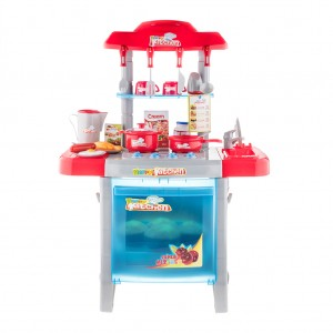 Kid's Kitchen Set Appliance Cooking Play Set with Light and Sound