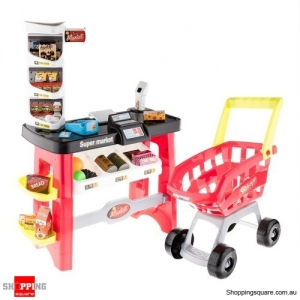 Kids Supermarket Grocery Store Register Play Set