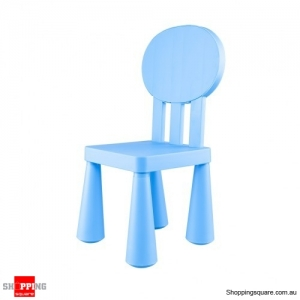 Children Kindergarten Chair with Round Back non-toxic - Blue