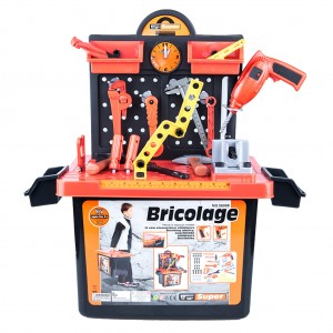 Kids Electric Drill Tool Work Bench Toy Play Set