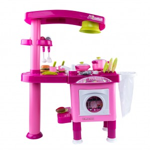 Kids Kitchen Cooking Pretend Toys Set - Pink