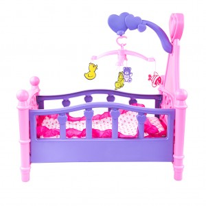 Girl's Crib Cot Bed Toy Play set - Accessories Included