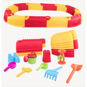 Children Sand and Water Beach Castle Wall Toys Playset Party