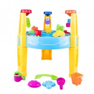 2-in-1 Plastic Sand and Water Table Beach Play Set