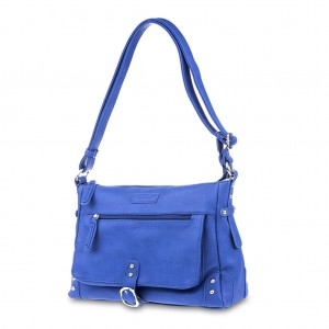 PU Stud Detailing Shoulder/Cross Body Bag - Royal