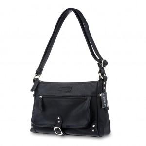 Women's Stud Detailing Shoulder/Cross Body Bag - Black
