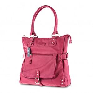 Women's Stylish Stud Detailing Large Tote Shoulder Bag - Red
