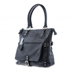 Women's Stylish Stud Detailing Large Tote Shoulder Bag - Black