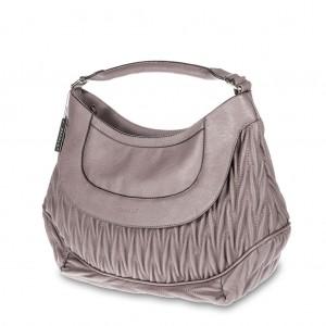 Women's Matelassé Single Handle Hobo Bag - Plum