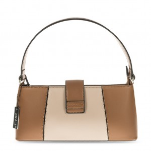 Women's PU Leather Elegant Grab Bag - Camel
