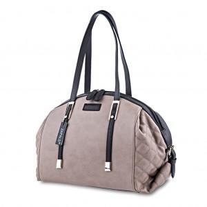 Pebble Quilted Dome Shaped Handbag Shoulder Bag Tote - Dark Beige