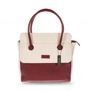 Women's Stylish Zapals Classic Square City Bag - Burgundy