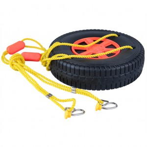 Rubber Tire Wheel Swing with 1.5M Rope for Tree